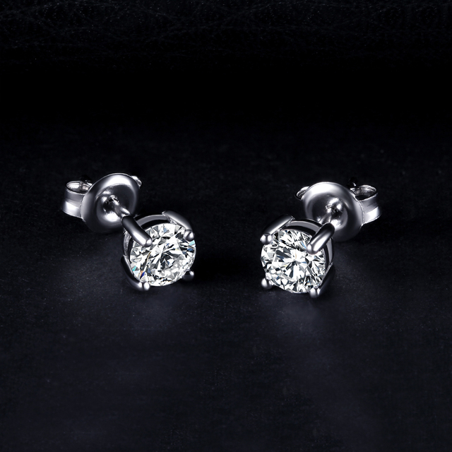 Diamond CZ Stud Earrings