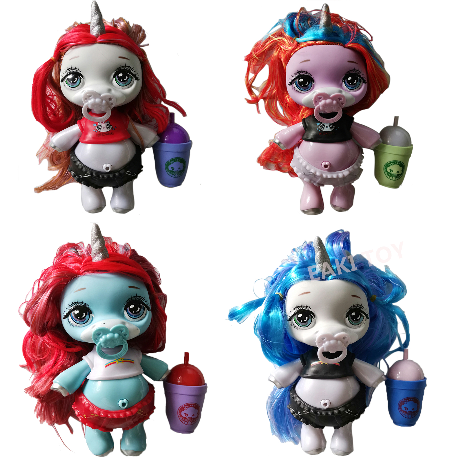 4 стиля, пупси, слизь, большой 27*17 см, единорог, шар, куклы, Пупс, девушки, игрушки, хобби, аксессуары, радуга, яркая звезда, кукла