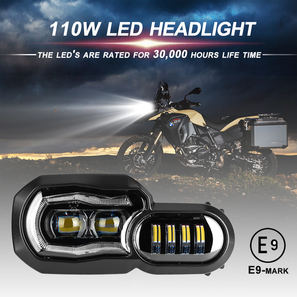 Big Sale! E-mark Approved Headlights for BMW F650GS F700GS F800GS ADV F800R Motorcycle Lights Comple