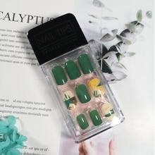 30Pcs False Nails Manicure DIY 3D Shiny Press On Fake Art Tips Stiletto Full Acrylic Bling AB Fashion Crystal Stickers