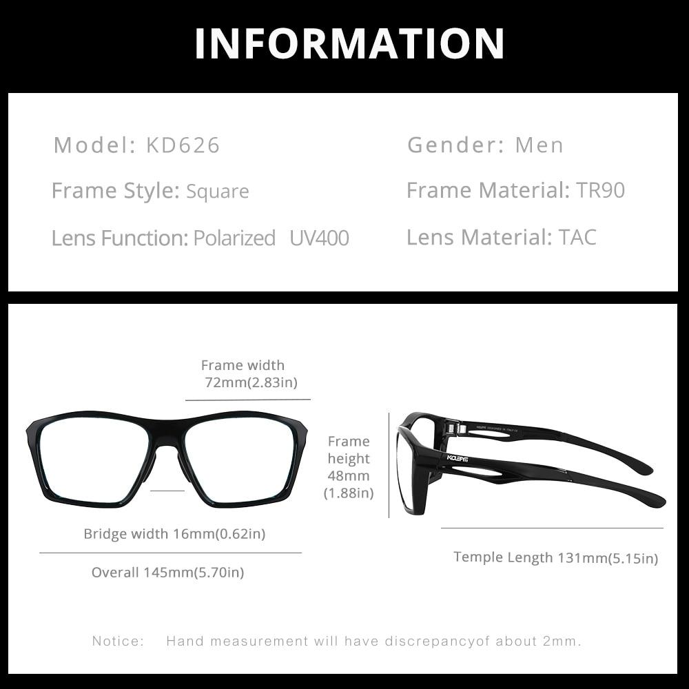 KDEAM LUXURY Mirrored Blue Sunglasses Polarized Men Sport outdoor Eyewear New Arrived Women TR90 Frame 100%UV With Case KD626-C4