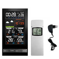 Wireless Stazione Meteo 2810 Esterno Dell'interno del Termometro Previsioni Meteo Stazione Alarm Clock con Temperatura di Colore di Umidità/Umidità/Barometro