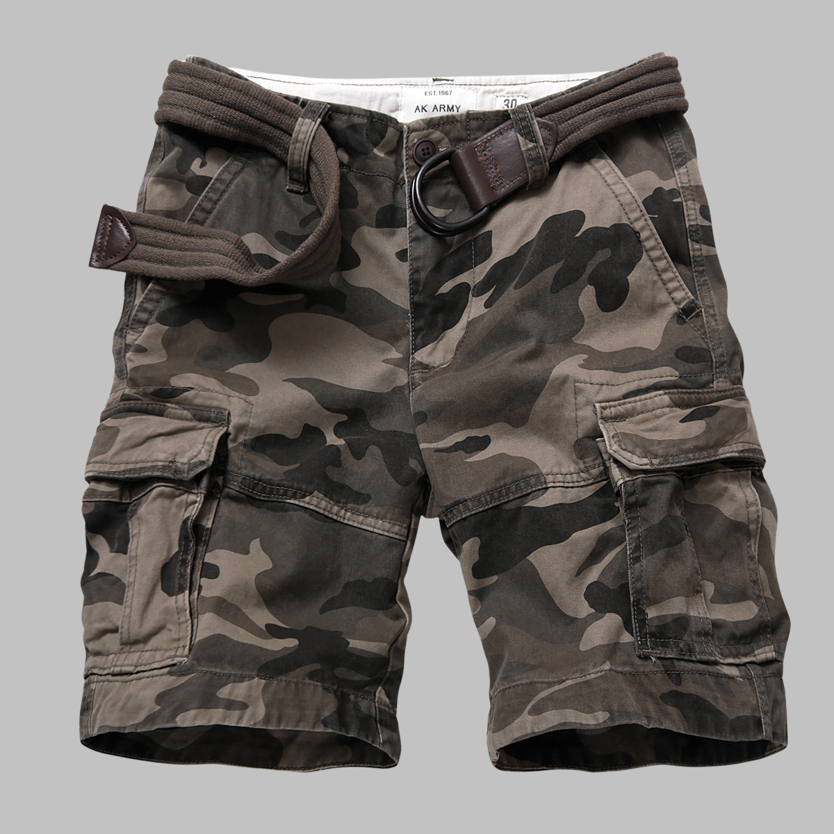 Streetwear Camouflage Cargo Shorts Men Casual Military Army Style Shorts Loose Baggy Pockets Shorts Male Clothes Sweatpants 4XL
