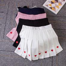 Женская плиссированная юбка с завышенной талией мини трапециевидной