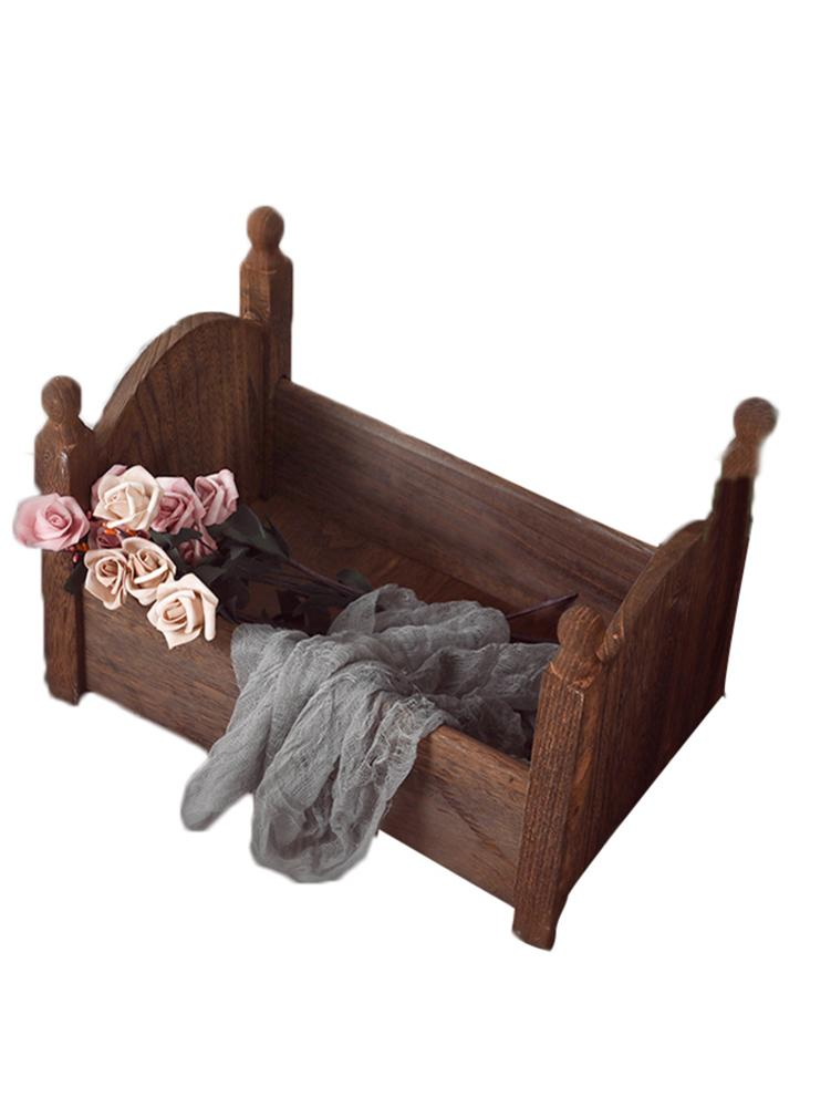 Baby Small Photography Wood Bed Photo Studio Photography Props Newborn Small Wooden Crib Detachable For Baby Boys Girls