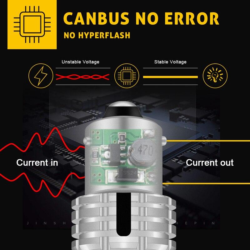 Image 3 - Katur 2 шт. Canbus 1156 PY21W BAU15S светодиодный светильник сигнала поворота без ошибок без гипервспышки 20smd 2400 люмен Янтарный Желтый КрасныйСигнальная лампа    АлиЭкспресс