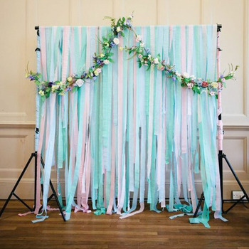 10m Crepe Paper Streamers DIY Paper Garland Photography Backdrops For Wedding
