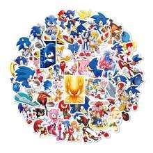 Ensemble de 50 autocollants POP SUPER SONIC, avec anneau/ombre émeraude à collectionner, modèle d'action, jouets pour cadeau d'anniversaire, 50 pièces/ensemble