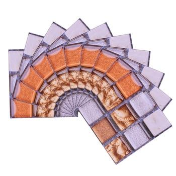 10*10cm Mosaic Self Adhesive Tile Wall Stickers Vinyl Bathroom Kitchen Home Decoration DIY PVC Stickers Decals Wallpaper 10pcs 5
