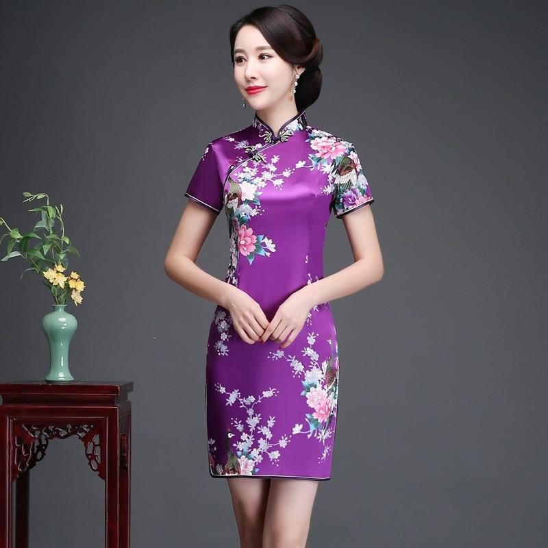 Daily Life New Cheongsam Improved Version nian qing kuan 2019 summer & autumn zhuang GIRL'S Chinese-style Short Dress Dress 4