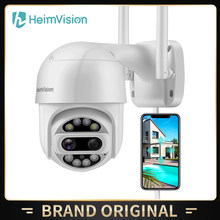 HeimVision HMF12MQ PTZ Security Camera Outdoor 2x2MP Ultra HD Dual Lens 360° View Smart Wi-Fi Wireless Video Camera Home Monitor