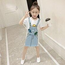 2019 new summer kids dresses for girls fashion cartoon girls dress quality short sleeve dress girl neat summer girl dress fashion dresses for girls 100