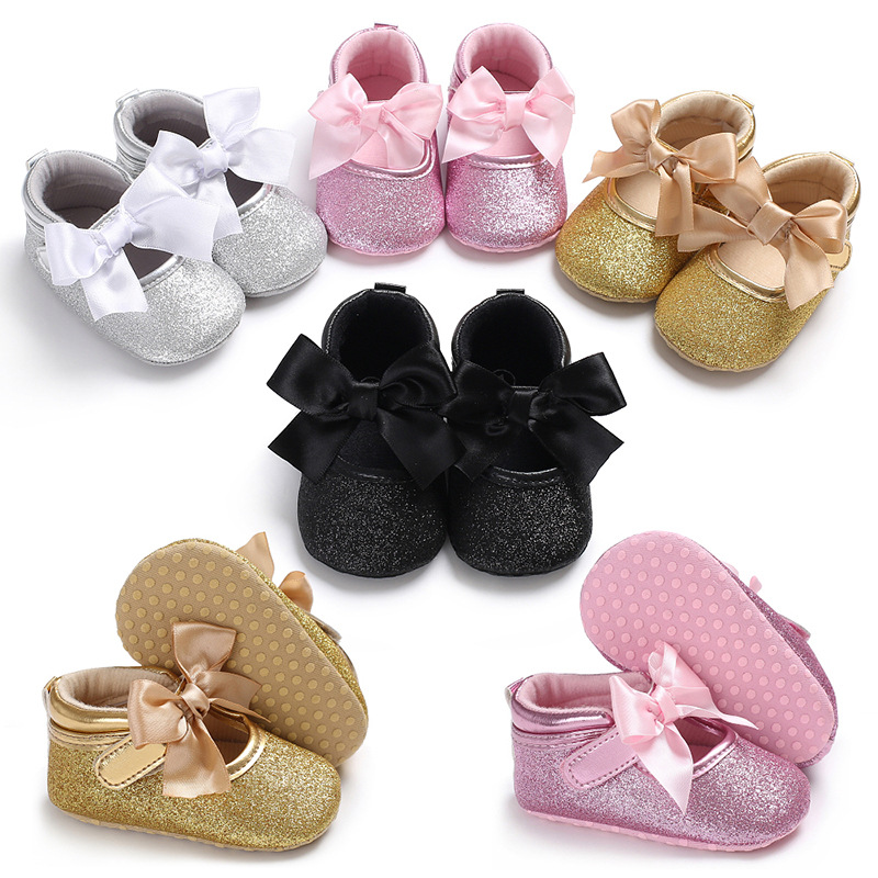 Kids Baby Moccasins Baby Girls Child Shoes Party Princess Crib Shoes Newborn Comfy New Born Girl Shoes First Walker For 0-18M
