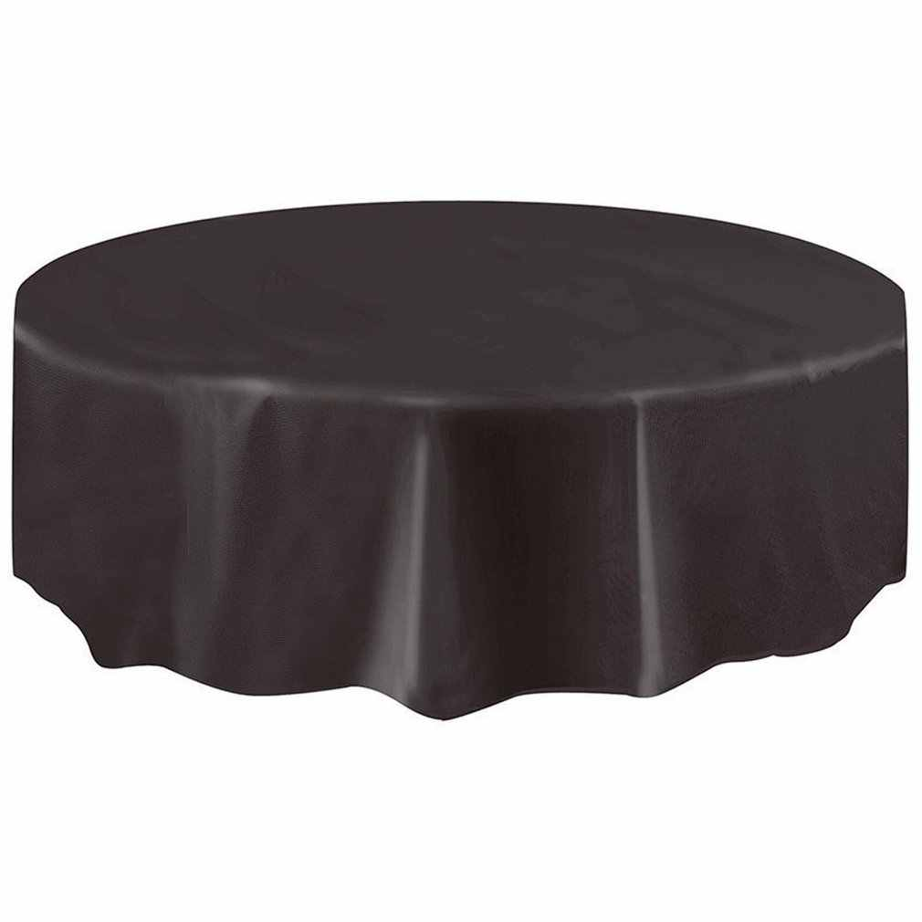 Plain Circular Round Oblong Tablecloth Solid Clean Wipe Dining Table Cloth Xmas
