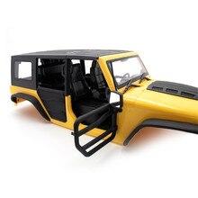 Ön ve arka yarım kapı tüp demiryolu kapılar 1/10 eksenel SCX10 II Jeep Wrangler vücut RC paletli araba parçaları aksesuarları