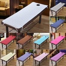 Спа, массажный стол постельное белье Простыня наматрасник для салона красоты с отверстием для лица подходит кровати в пределах 75x28 дюймов