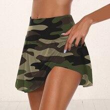 2020 женские камуфляжные Volleyable Юбки Женская Спортивная юбка для танцев беговые фитнес-шорты с юбкой анти-апом 2 в 1