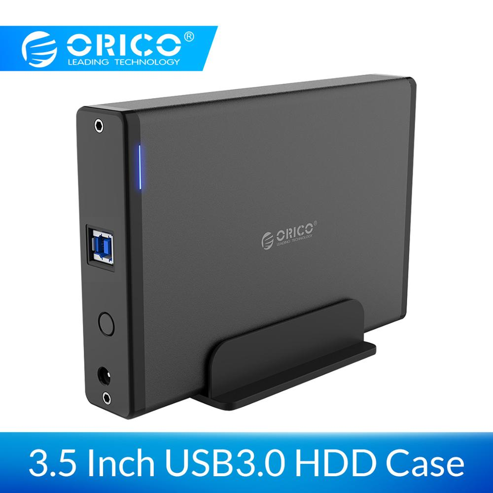 ORICO Aluminum 3.5 Inch Hard Drive HDD Enclosure USB3.0 To SATA3.0 HDD Case Docking Station Support UASP 12V2A Power