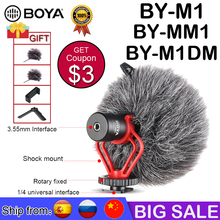 BOYA BY-M1 BY-M1DM BY-MM1 BY M1 Lavalier Microphone Camera Video Recorder for iPhone Smartphone Canon Nikon DSLR Zoom Camcorder