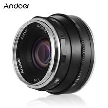 Andoer 35mm F1.6 manuel odak lensi büyük diyafram fotoğraf Fujifilm Fuji X A1 FX dağı aynasız Canon M1/ m2/M3 kamera