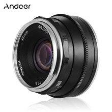 Andoer lente de enfoque F1.6 de 35mm para cámara Canon M1/M2/M3, lente de enfoque Manual de gran apertura para cámara Fujifilm Fuji X A1 fx mount sin espejo