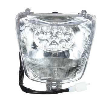 Luz delantera de motocicleta LED de 12V y 35W para 50cc, 70cc, 90cc, 110cc, 125cc, para Mini ATV, Quad Bike para Buggy