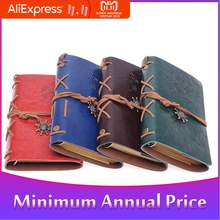 Notebook Diary Notepad Spiral with Logo Vintage Pirate Anchors PU Leather Traveler Journal Note Book