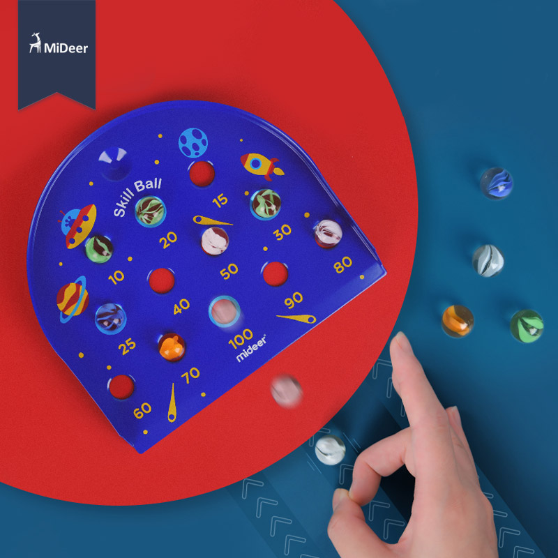 MiDeer Glass Space Marbles Toys Children Puzzle Desktop Game Skill Ball Bead Kids Intelligence Development Toy 6 Years Boys Gift