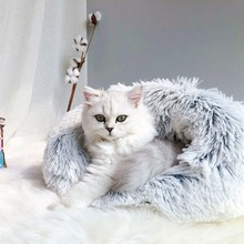 Long Plush Super Soft Pet Bed Kennel Cat Winter Warm Sleeping Bag House Cover For All Seasons