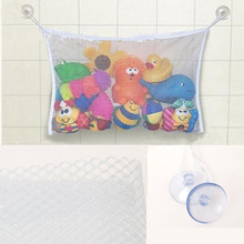 Folding Baby Bathroom Hanging Mesh Bath Toy Storage Bag Net Suction Cup Baskets Shower Toy Organiser Bags(China)