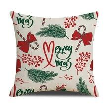 Holiday Decorative Pillowcase Christmas Cartoon Pattern Printed Zipper Closure Throw Pillow Cover For Home Decorative christmas tree printed decorative thick throw pillowcase