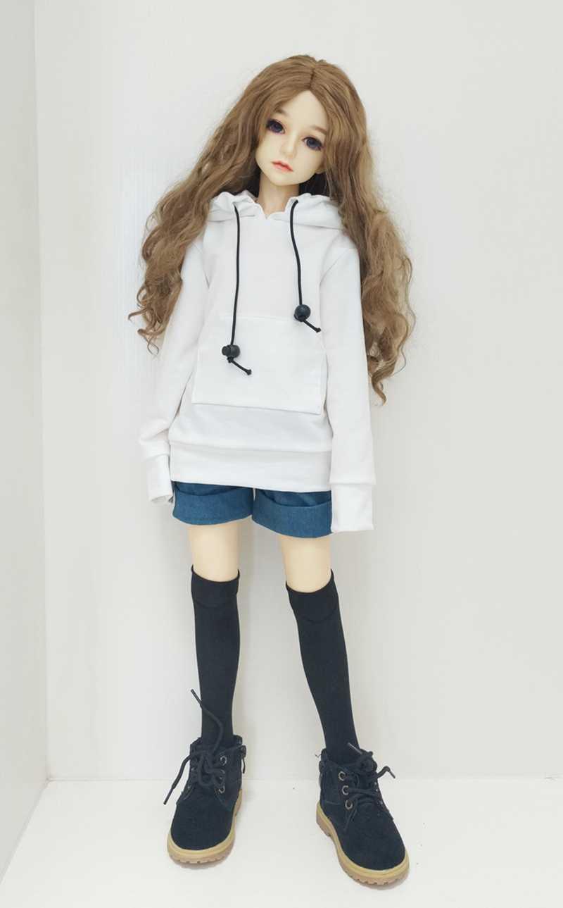 人形服のアクセサリー人形 sd BJD トレーナーキャップため 1/61/41/3 グレー黒人形服糸のおもちゃ子供