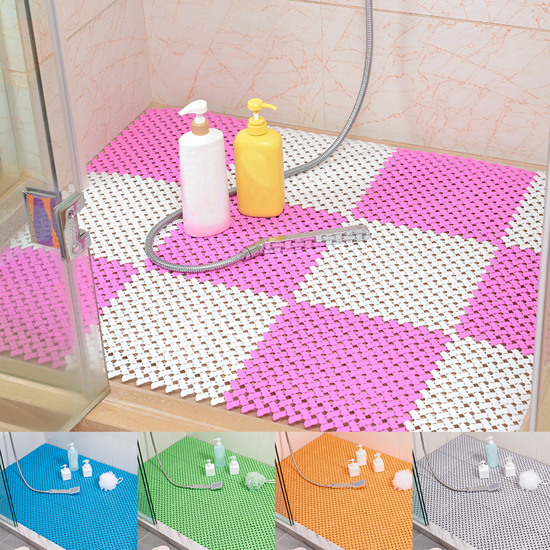 Removable Bath Mat Safety Non-slip Stitching Kitchen Bathroom Mats Shower Floor Cushion Rug Bath Mat Bathroom Accessories