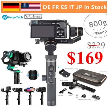FeiyuTech G6 Plus 3 Axis Splash-Proof Handheld Gimbal Stabiliser for GoPro Action Camera/phones/Mirrorless Cameras/Pocket Camera
