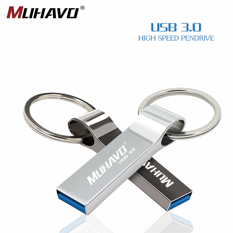 Usb Flash Drive 3.0 Waterproof Pen Drive 32gb 64gb 128gb 16gb Metal Pendrive 8gb High Speed Key Usb Flash 3.0 Free Print L
