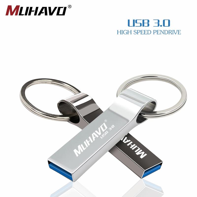 Usb Flash Drive 3.0 Waterproof Pen Drive 32gb 64gb 128gb 16gb Metal Pendrive 8gb High Speed Key Usb Flash 3.0 Free Print L