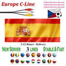 Europe most stable Cccam for spain portugal germany 3 lines support cccams satellite tv