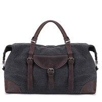 Vintage Canvas Luggage Bag Carry on Luggage Bags Large Capacity Men Weekend Travel Bag Shoulder Hand Waterproof Men Duffle Bag