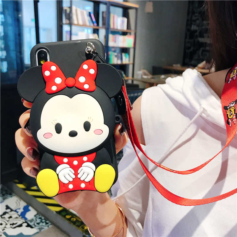Cute 3D Wallet Silicone Cases For iPhone 11 PRO MAX X XR XS Max 8 7 6 6S Plus For Samsung Galaxy S8 S9 S10 PLUS Note 8 9 10 PRO