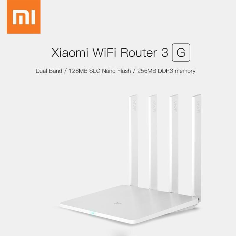 Xiao mi routeur WiFi sans fil 3G 128 mo grand Flash + 256 mo 4 antennes 2.4G/5GHz Wifi Extender routeur APP contrôle