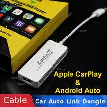 CarPlay Dongle para reproductor de navegador, USB inteligente para coche automóbil Link Dongle para Apple para reproductor Android, Mini USB Carplay con Android
