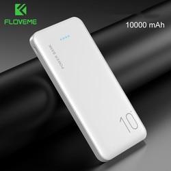 Floveme power bank 10000 mah carregador portátil para samsung xiao mi bateria externa móvel powerbank 10000 mah poverbank telefone