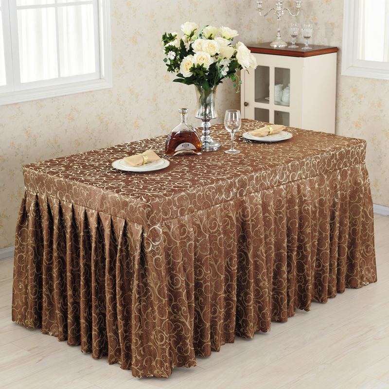 Conference Tablecloths Cold Food Table Skirts Show Activities Desk Cover Multi - Color Hook Flower Table Skirting Cover 60x150cm