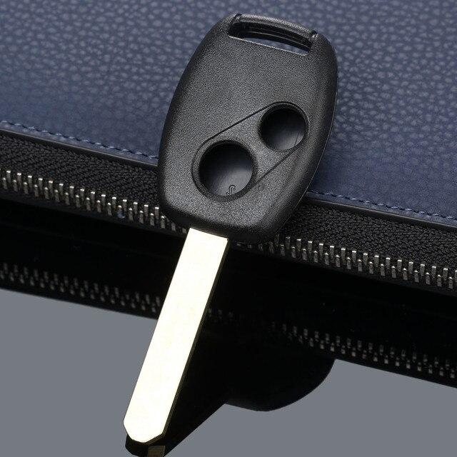 2 botones llave de sustitución de coche sin llave de entrada remota estuche para mando a distancia caja hoja sin cortar para HONDA Accord Civic Fit Pilot CR V