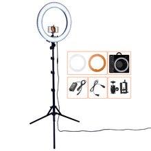 FOSOTO 18 дюймовый светодиодный кольцевой светильник, лампа для фотосъемки, кольцевой светильник для селфи, светодиодная кольцевая лампа с подставкой для штатива, для макияжа, Youtube, Tiktok