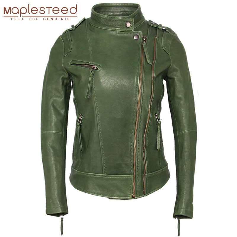 Women Leather Jacket 100% TANNED Sheepskin 3 Colors Slim Fit Woman Genuine Leather Jackets Female Skin Coat Autumn Spring M262