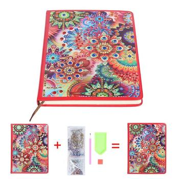 Portable DIY Butterfly No Cracks Splicing Flatness Diamond Painting 100 Pages Special Shaped Notebook Office Supplies Newest image