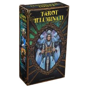 Набор для карт Таро Иллюминати, палубная карта Oracles и электронная книга, игра Таро, игрушка, книга для гадания, электронная книга