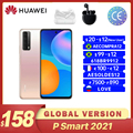 HAUWEI P Smart 2021 Mobile Phone NFC 48 MP Quad Camera 5000 mAh Battery with Freebuds 3 Wireless Charger Freebuds 3i