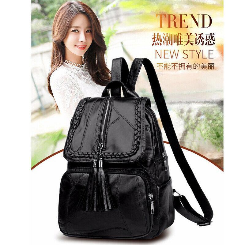 2019 Brand Minimalism Female Backpack Pu Leather Youth Women Bagpack Beautiful Fashion Girl Casual Rucksacks Lady Shoulder Bag